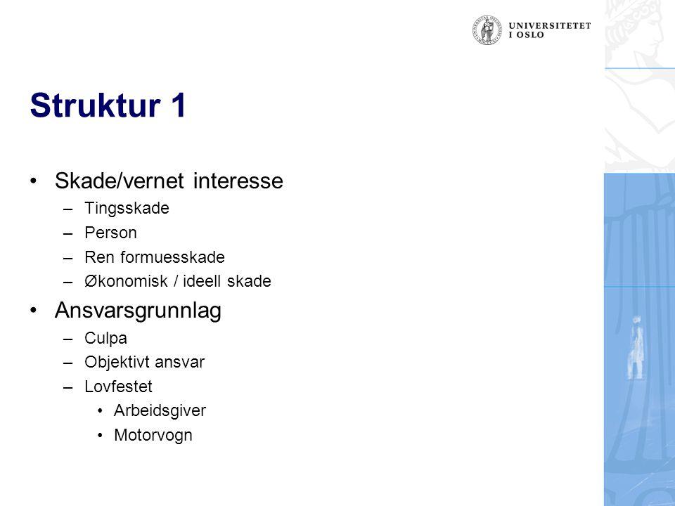 Ekstraordinær risiko Risikoen må overstige et minstenivå Alltid en viss skaderisiko i samfunnet Lunddommen, Rt.