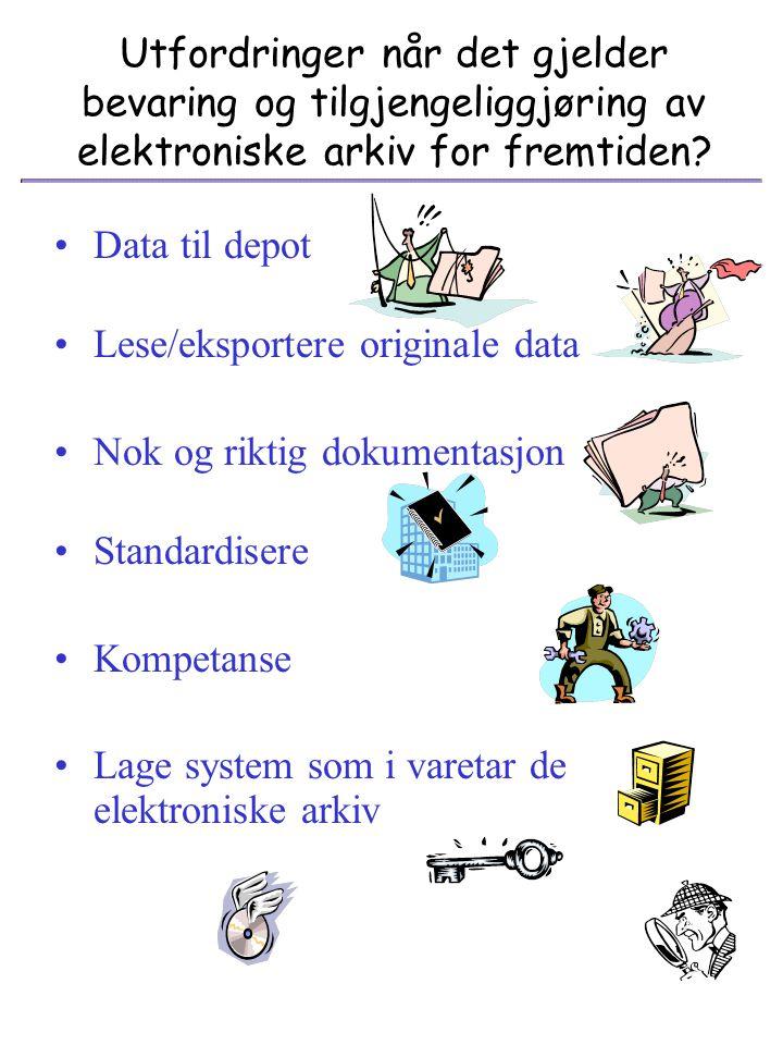 Oversikt over en liten del av Bergen kommunes arkivdatabaser Hver database/filsystem har spesielle egenskaper og formater som gjør at man er avhengig