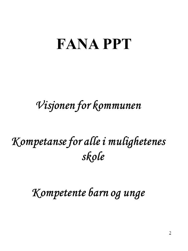 3 FANA PPT En reflekterende organisasjon, en samarbeidende organisasjon, en nytenkende organisasjon Er en organisasjon i bevegelse