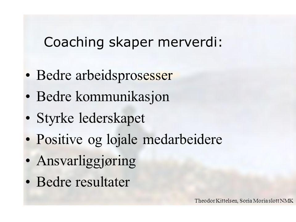 Bedre arbeidsprosesser Bedre kommunikasjon Styrke lederskapet Positive og lojale medarbeidere Ansvarliggjøring Bedre resultater Theodor Kittelsen, Sor