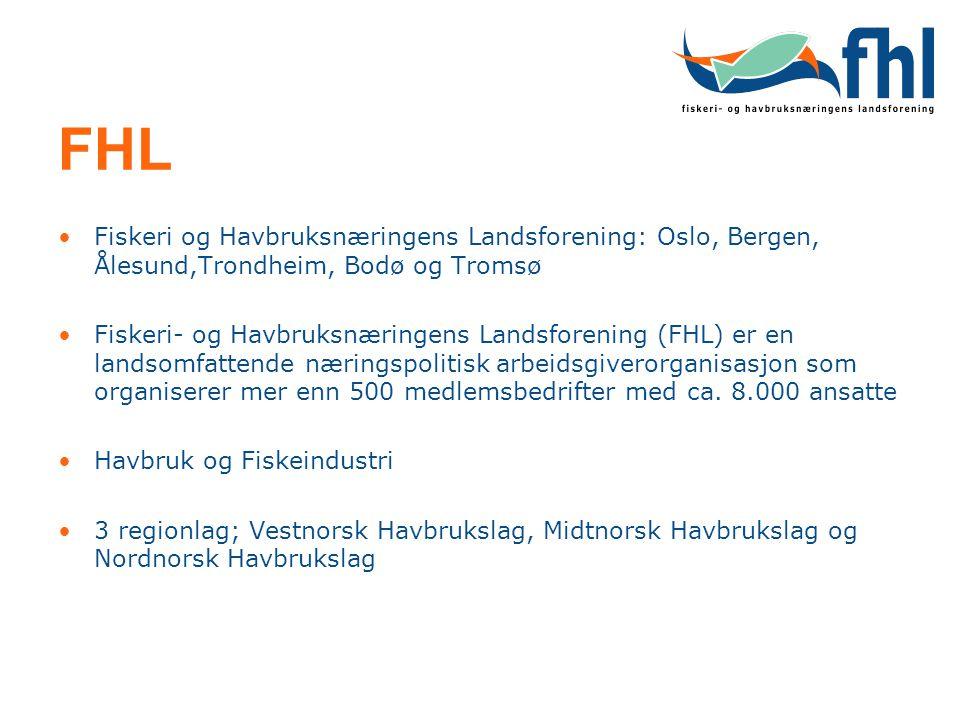 FHL Fiskeri og Havbruksnæringens Landsforening: Oslo, Bergen, Ålesund,Trondheim, Bodø og Tromsø Fiskeri- og Havbruksnæringens Landsforening (FHL) er e
