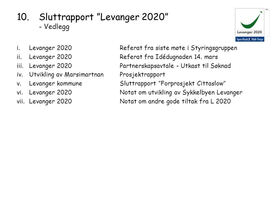 i.Levanger 2020 Referat fra siste møte i Styringsgruppen ii.Levanger 2020Referat fra Idédugnaden 14.