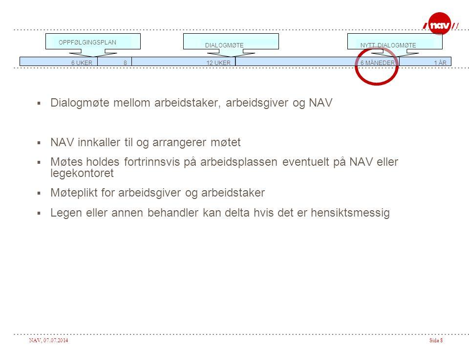 NAV, 07.07.2014Side 19 Hva kan tilrettelegges.