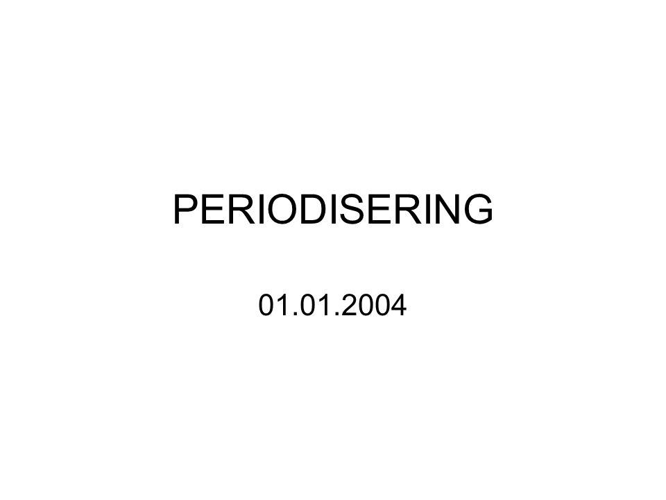 PERIODISERING 01.01.2004