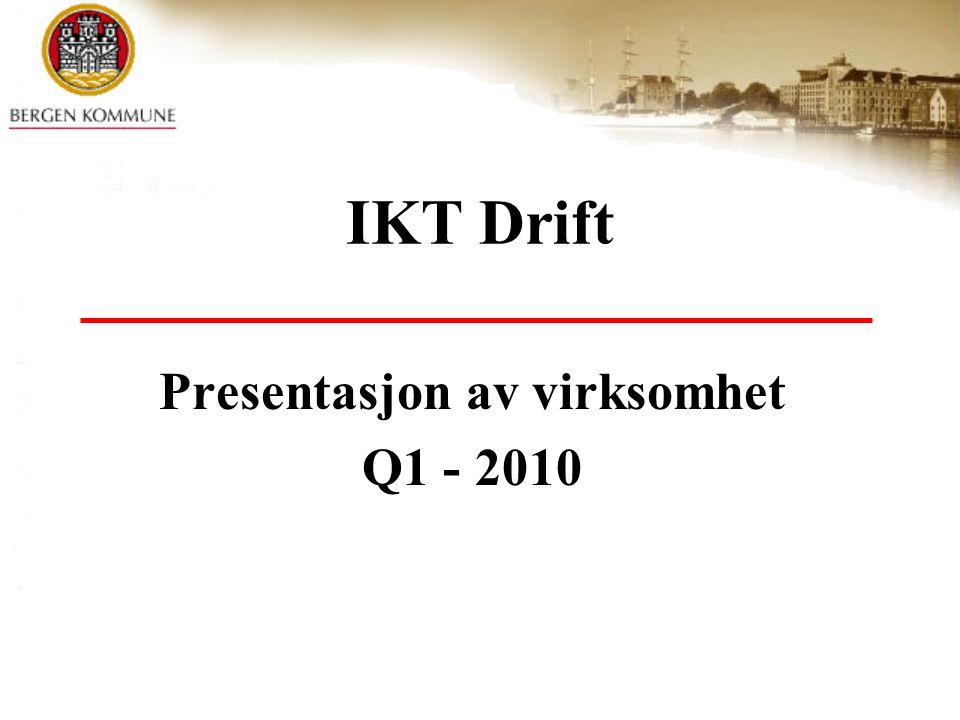 IKT Drift Presentasjon av virksomhet Q1 - 2010