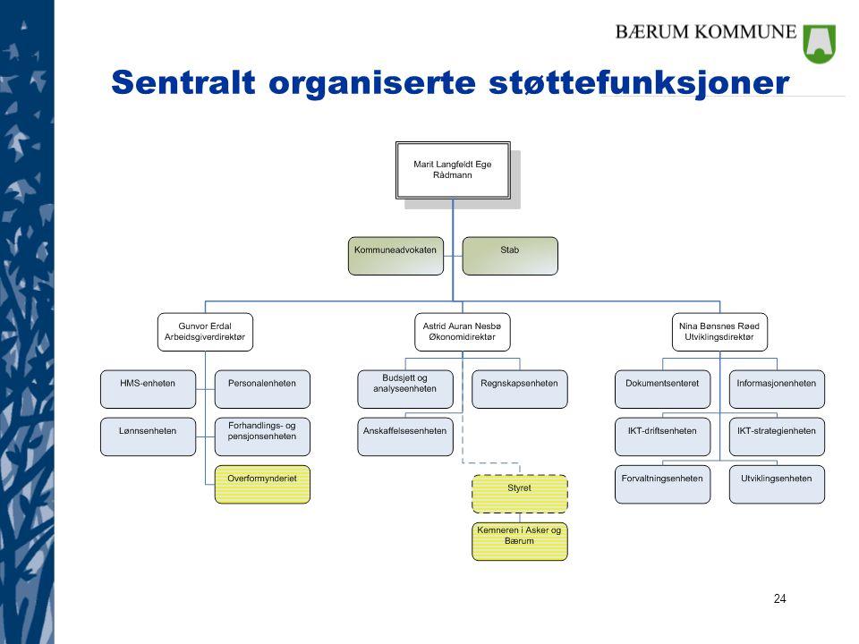24 Sentralt organiserte støttefunksjoner