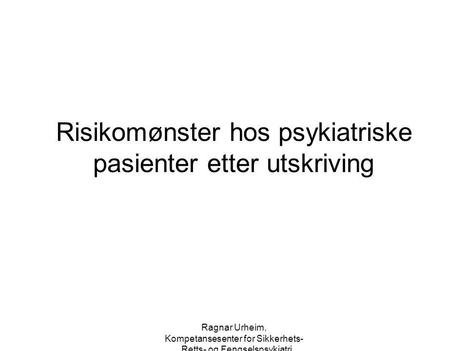 Ragnar Urheim, Kompetansesenter for Sikkerhets-, Retts- og Fengselspsykiatri Risikomønster hos psykiatriske pasienter etter utskriving