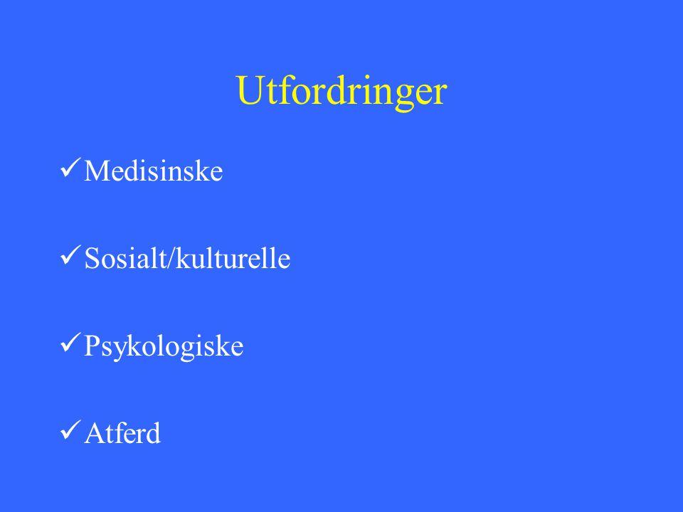 Psykiatrisk innslag De sårbare; schizofreniene,bipolare, engstelige/hemmede/avhengige personlighetstyper De utagerende; Dyssosiale, emosjonelt ustabile personligheter Kognitiv svikt