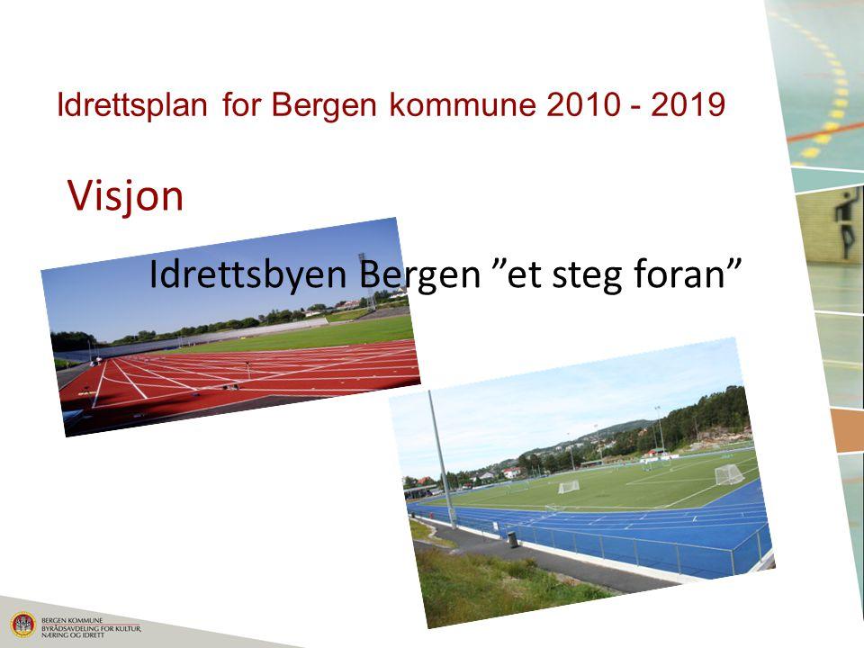 Visjon Idrettsplan for Bergen kommune 2010 - 2019 Idrettsbyen Bergen et steg foran