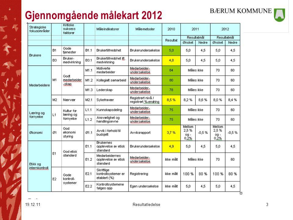 19.12.11Resultatledelse3 Gjennomgående målekart 2012