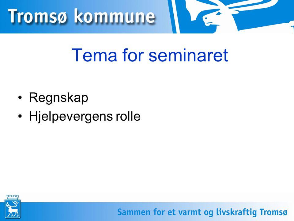Regnskap Hjelpevergens rolle Tema for seminaret