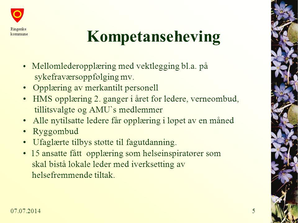 07.07.201416 Mål og tiltak Tyristrand barnehage - mål: Sterk satsing på arbeidsmiljøtiltak.