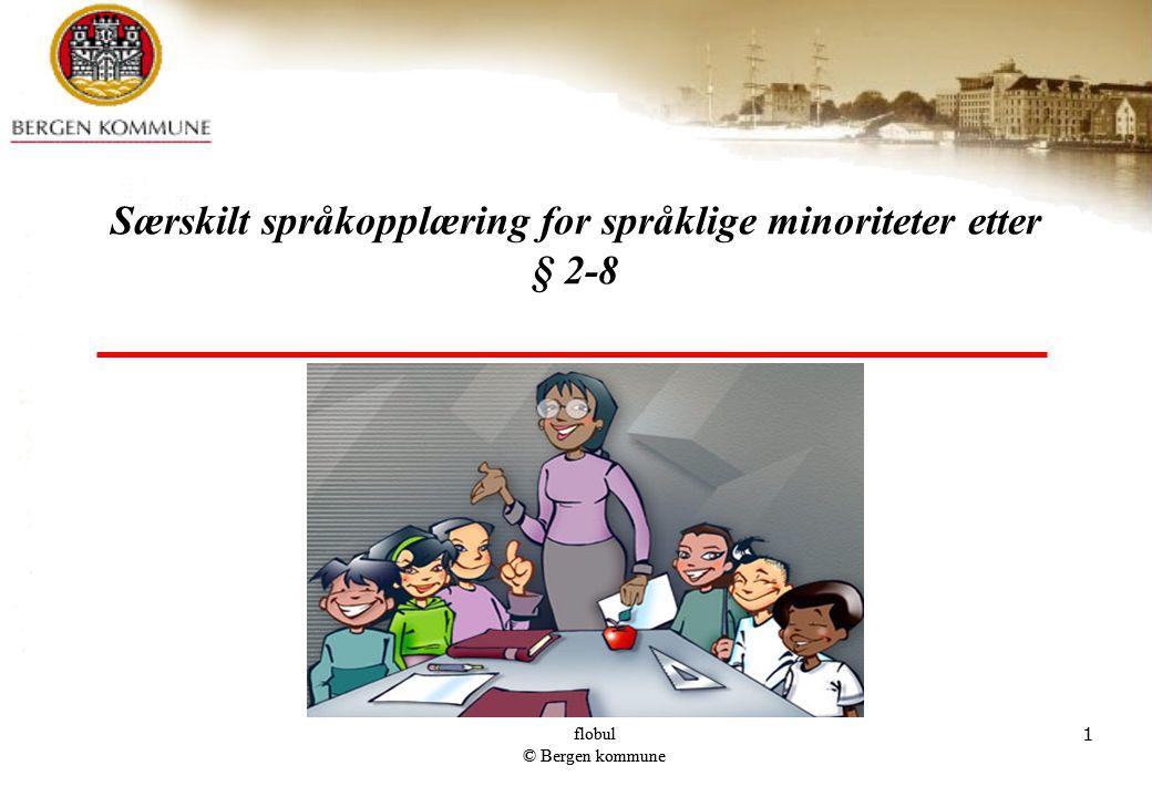flobul © Bergen kommune 1 1 Særskilt språkopplæring for språklige minoriteter etter § 2-8