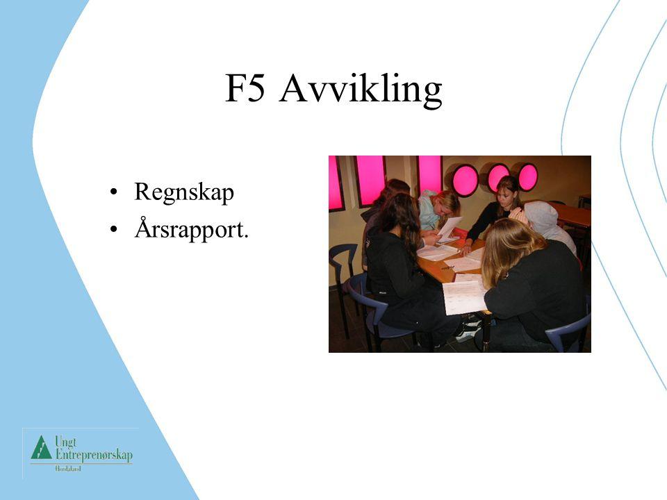 F5 Avvikling Regnskap Årsrapport.