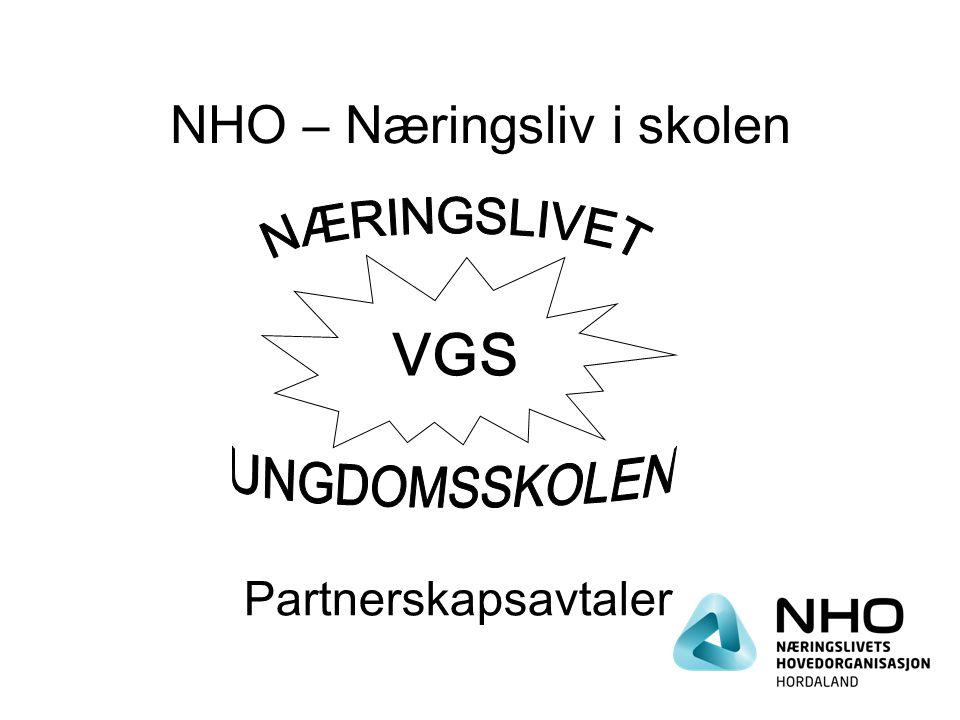 NHO – Næringsliv i skolen VGS Partnerskapsavtaler