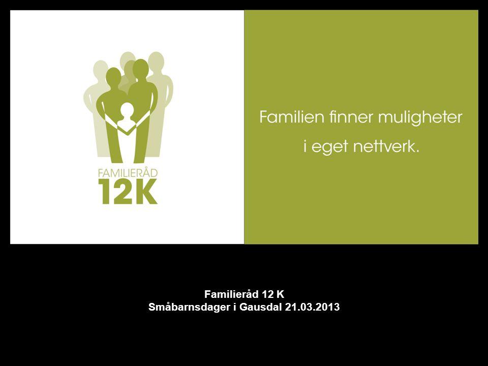 Familieråd 12 K Småbarnsdager i Gausdal 21.03.2013