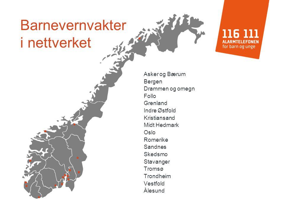 Asker og Bærum Bergen Drammen og omegn Follo Grenland Indre Østfold Kristiansand Midt Hedmark Oslo Romerike Sandnes Skedsmo Stavanger Tromsø Trondheim