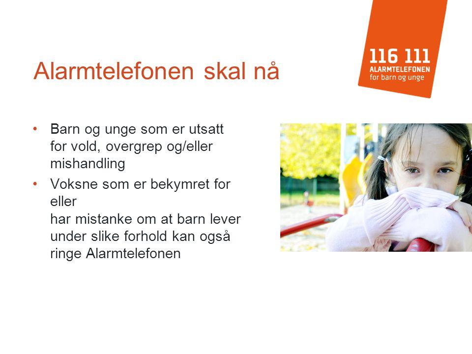 Type henvendelser Vold Overgrep/mishandling Bekymring for omsorgssvikt Barn i lojalitetskonflikt mellom foreldre