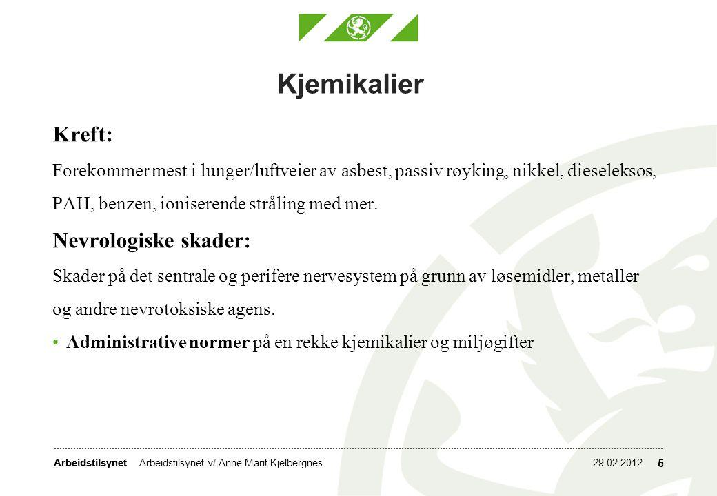 Arbeidstilsynet 29.02.2012Arbeidstilsynet v/ Anne Marit Kjelbergnes 16 Asbest Alle som oppholder seg i områder som forurenses av asbest løper en risiko.