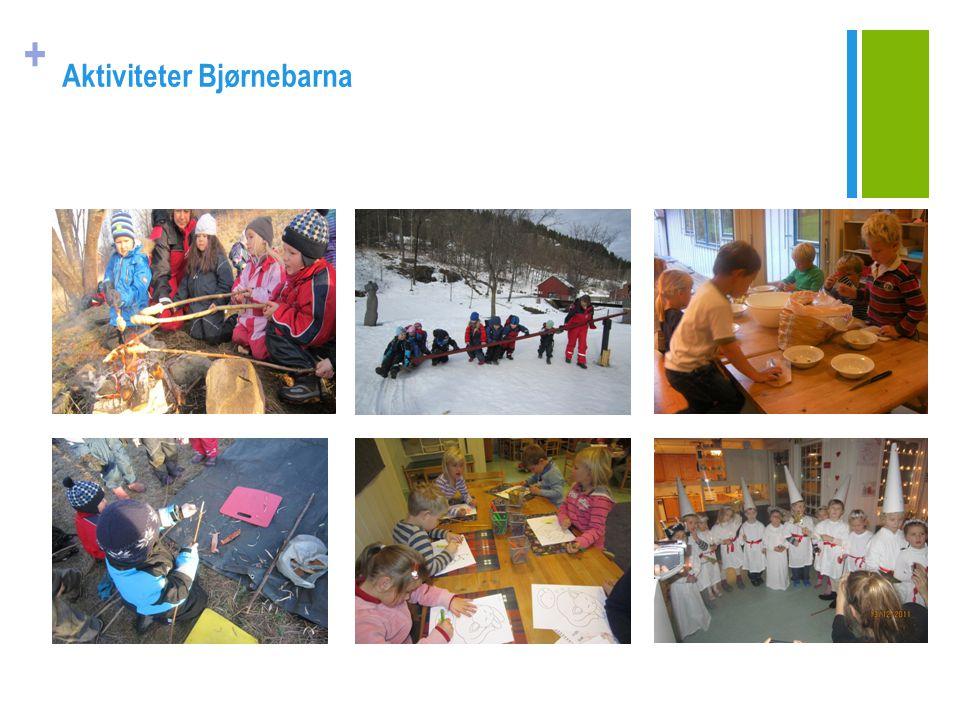 + RUTINER FOR OVERGANG BARNEHAGE - SKOLE Vi samarbeider med skolene i nærmiljøet for å sikre en myk overgang til skolene (Bryn og Hammerbakken).
