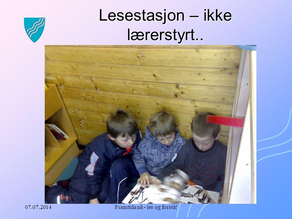 07.07.2014Framtida nå - les og forstå! Lesestasjon – ikke lærerstyrt..