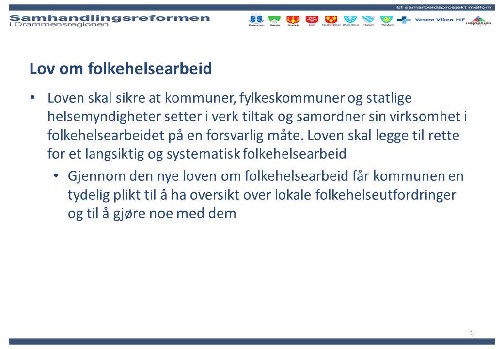 Vestre Viken Kommunehelsesamarbeid Drammensregionprosjektet er ett av seks selvstendige prosjekter i denne paraplyorganisasjonen .
