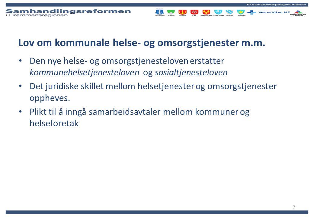 Utskrivningsklare pasienter VV-HF per 30.09.2011 Drammen Antall døgn i 2011 914 Antall opphold 2011 167 USK i % av antall ligg.døgn totalt 3,45 Kostnadsanslag 2011 4 387 000 Rammetilskudd 2012 Ca 7,1 mill Usikkerhetsfaktorer: Nye avtaler mellom HF og kommunene Registreringspraksis 2011 Endringer i behandlingstilbud og etterspørsel Faktureres månedlig fra VV-HF i 2012