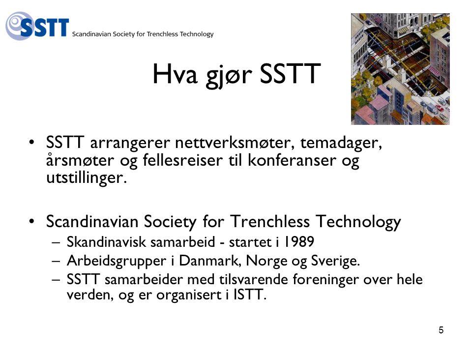 5 Hva gjør SSTT SSTT arrangerer nettverksmøter, temadager, årsmøter og fellesreiser til konferanser og utstillinger.
