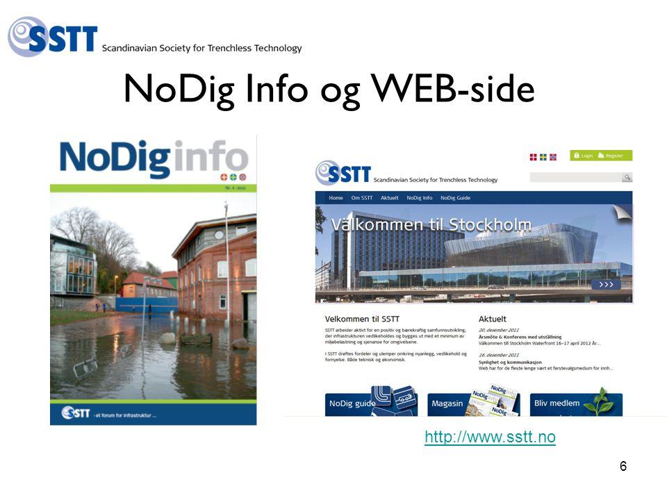 6 NoDig Info og WEB-side http://www.sstt.no
