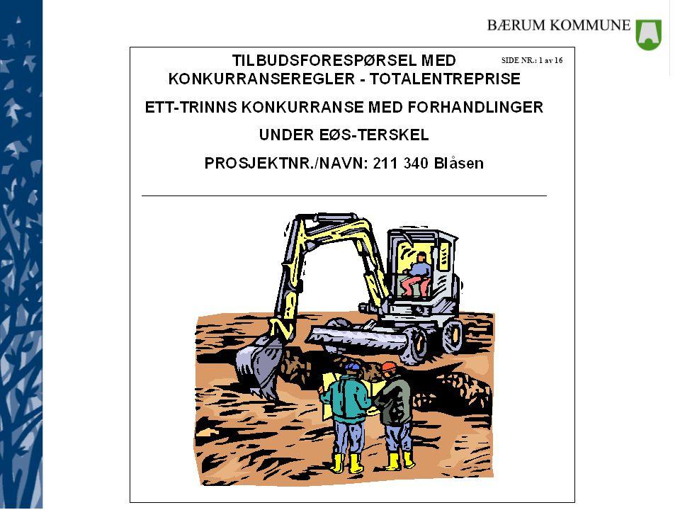 Tilbudsforespørsel - entrepriser (konkurransegrunnlagets del I) DOK.NR.: Ab5-3.68 SIDE NR.: 4 av 15 TKL.