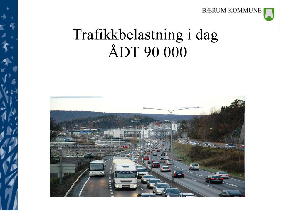 Trafikkbelastning i dag ÅDT 90 000