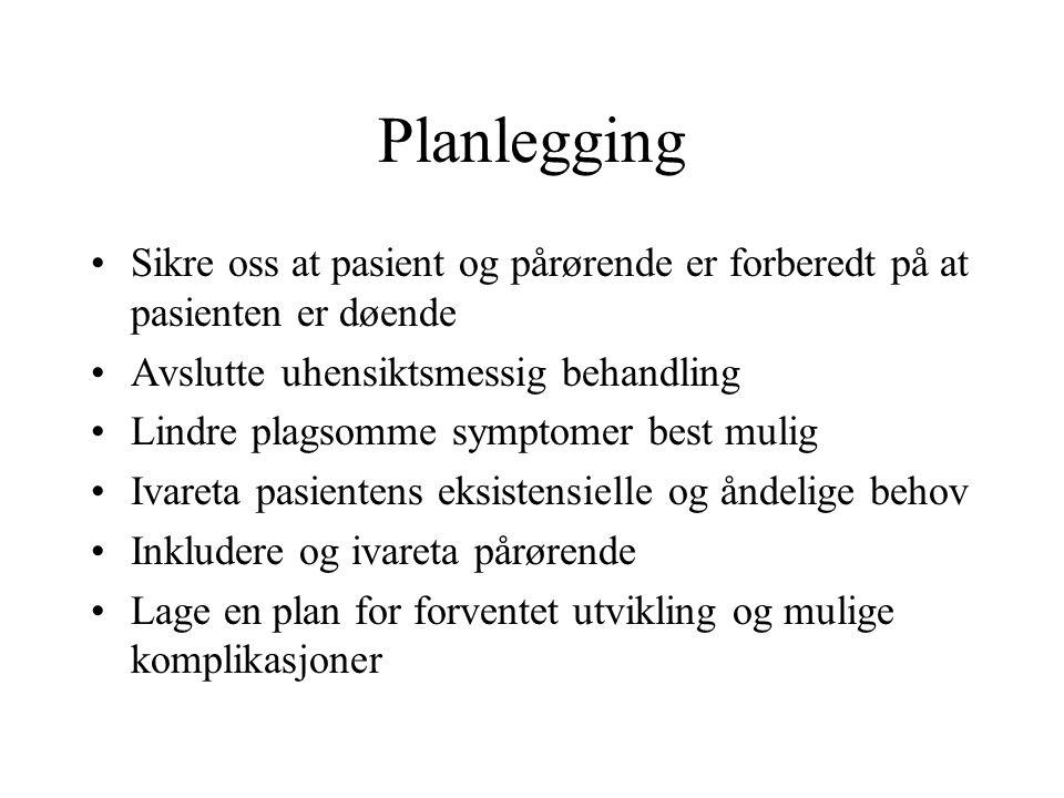 Husebø, B.S og Husebø, S.(2003). De siste dager og timer.