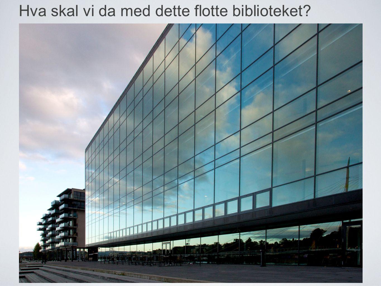 hva skal vi da med dette flotte bygget? Hva skal vi da med dette flotte biblioteket?