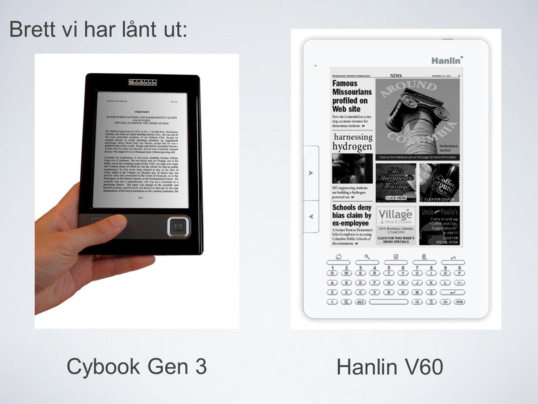 Hanlin V60 Cybook Gen 3 Brett vi har lånt ut:
