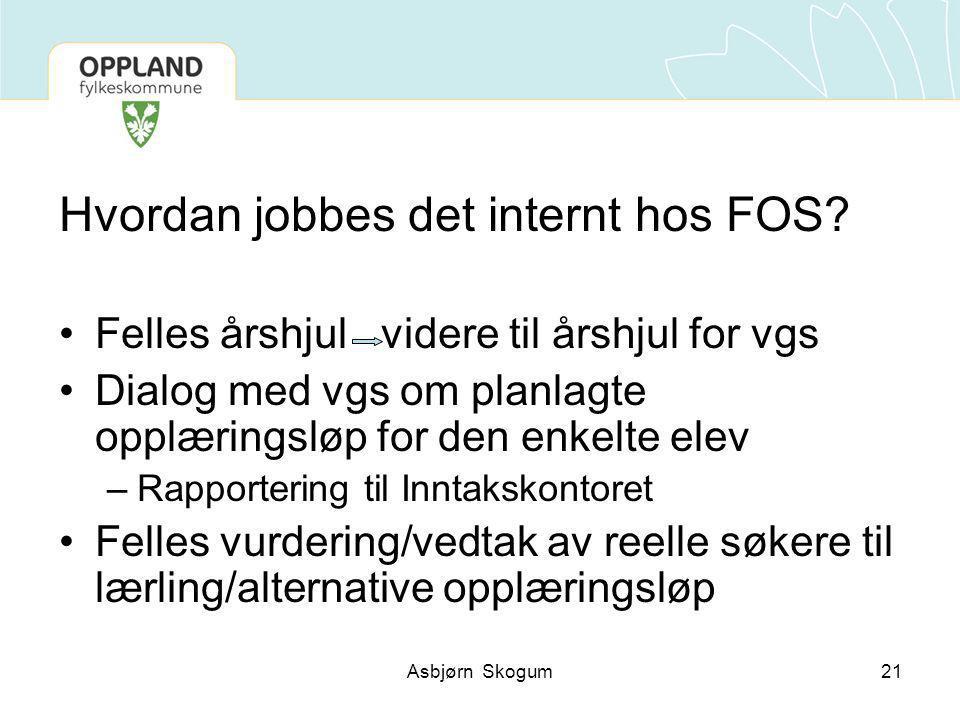 Hvordan jobbes det internt hos FOS.