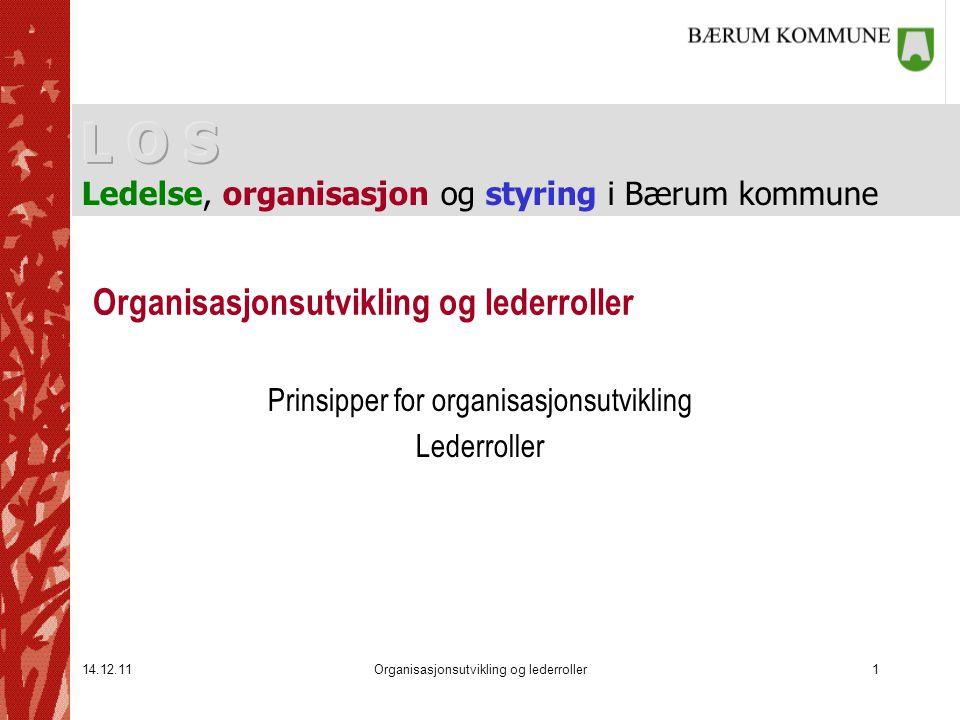 14.12.11Organisasjonsutvikling og lederroller1 Prinsipper for organisasjonsutvikling Lederroller