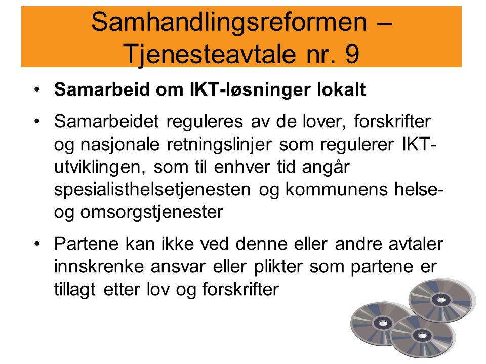 Samhandlingsreformen – Tjenesteavtale nr.