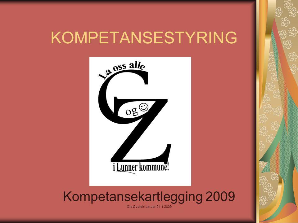KOMPETANSESTYRING Kompetansekartlegging 2009 Ole Øystein Larsen 21.1.2009