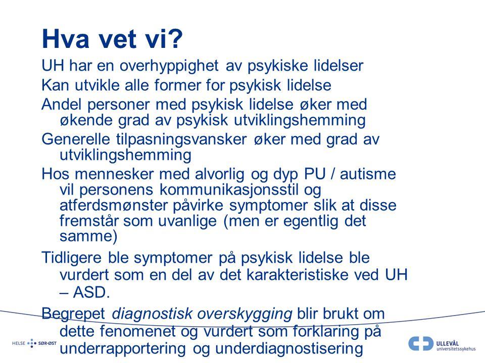Symptomer Subjektive symptomer(ubehag, dødsangst, kvelningsfornemmelse, smerter i bryst, kvalme, svimmelhet, opplevd kontrolltap etc) Kroppslige symptomer (Økt puls / harehjerte , svette, skjelving, tørr munn, hyperventilering / pustevansker, pupilleutvidelse, muskelspenninger, motorisk uro etc) Atferdssymptomer (Fight, Flight, Freeze)