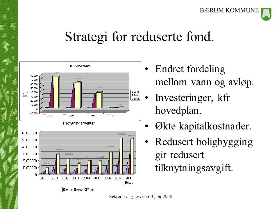 Sektorutvalg Levekår 3 juni 2008 Strategi for reduserte fond.