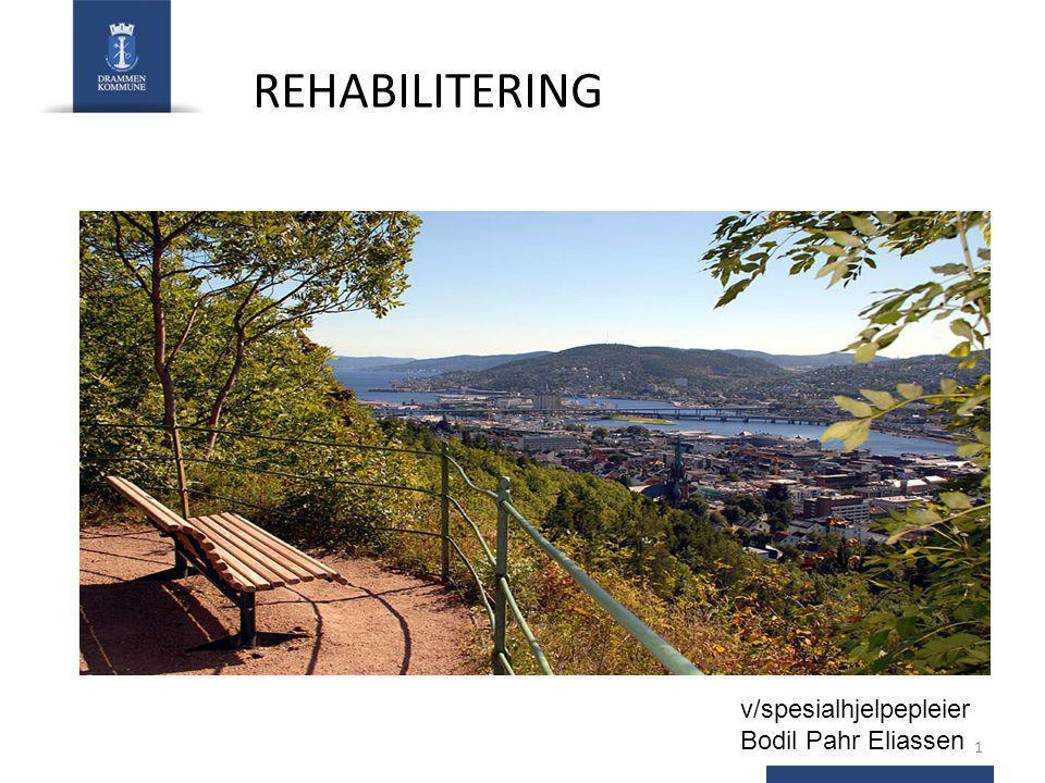 REHABILITERING v/spesialhjelpepleier Bodil Pahr Eliassen 1