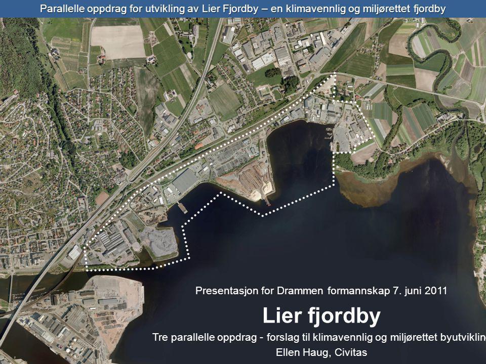 Parallelle oppdrag for utvikling av Lier Fjordby – en klimavennlig og miljørettet fjordby Presentasjon for Drammen formannskap 7.