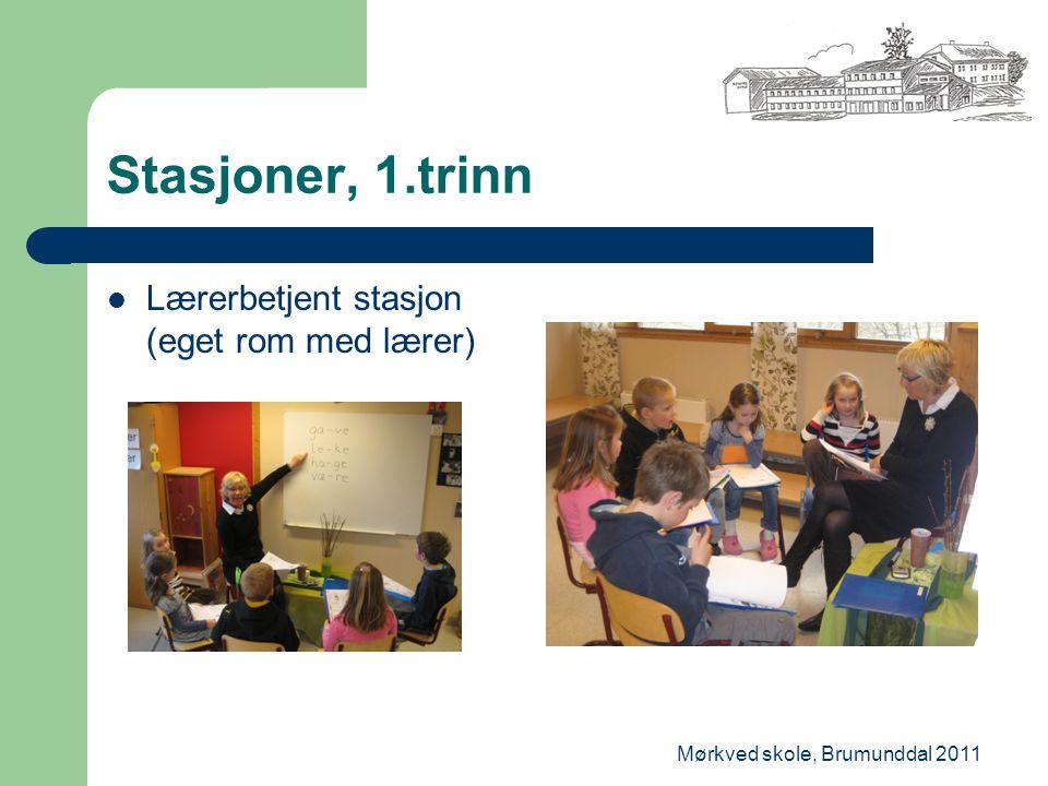Mørkved skole, Brumunddal 2011 Stasjoner, 1.trinn Lærerbetjent stasjon (eget rom med lærer)