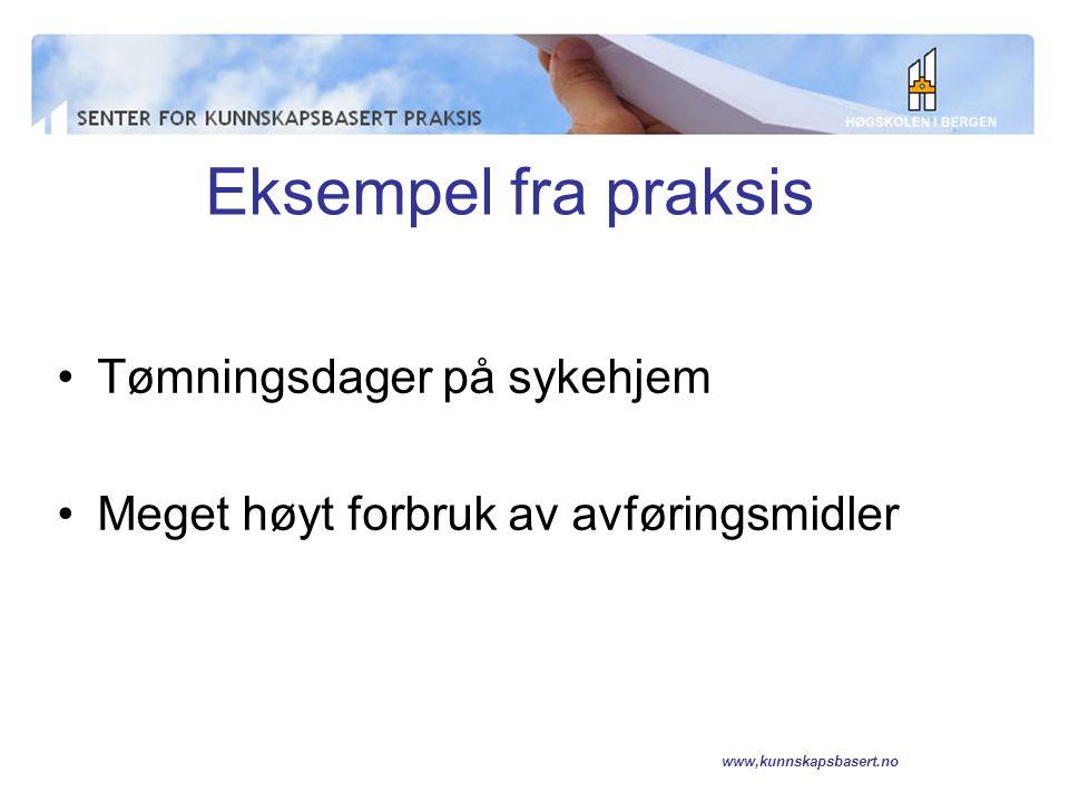 www,kunnskapsbasert.no http://www.rnao.org