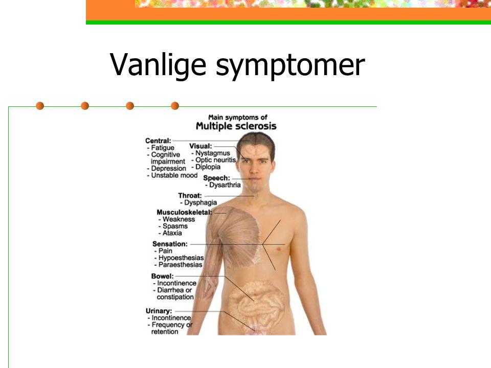 Vanlige symptomer