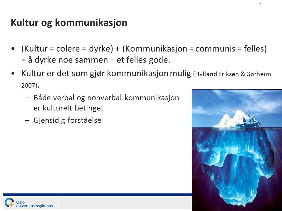 7 Interkulturell kompetanse Evnen til å kommunisere hensiktsmessig og passende med mennesker som har en annen kulturell bakgrunn (Bøhn & Dypedahl 2009).
