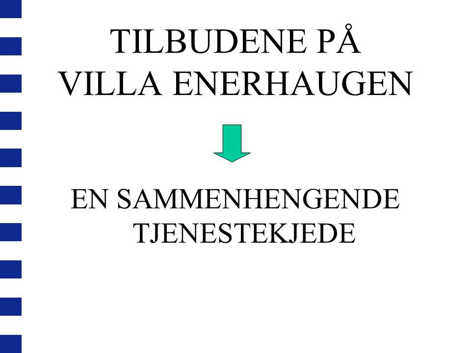 PERSONELLINTENSIVT TILBUD Hovedtanken er at det skal være én hånd til hver på dagtid Tilnærmet samme bemanning på kvelden og i helgen