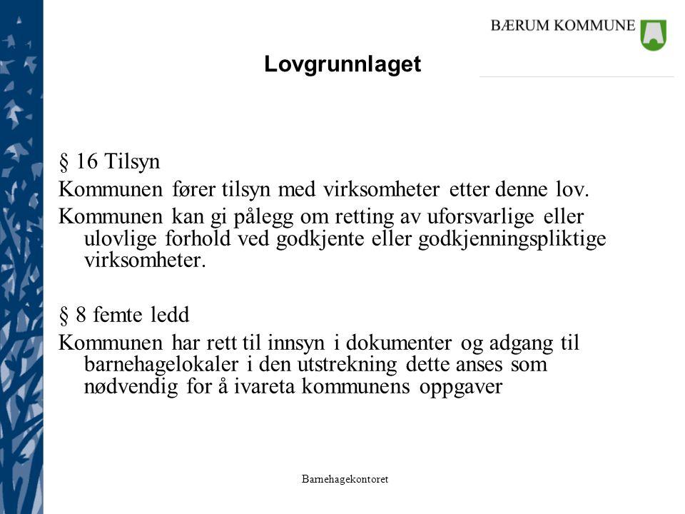 Barnehagekontoret Barnehagene i Bærum Satsningsområde 2004 – 2006: Systematisk dokumentasjon og vurderingsarbeid i barnehagen s