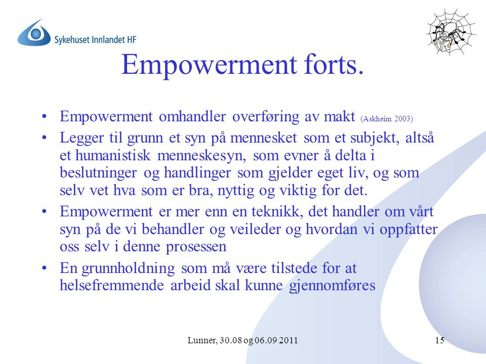 Lunner, 30.08 og 06.09 201115 Empowerment forts.