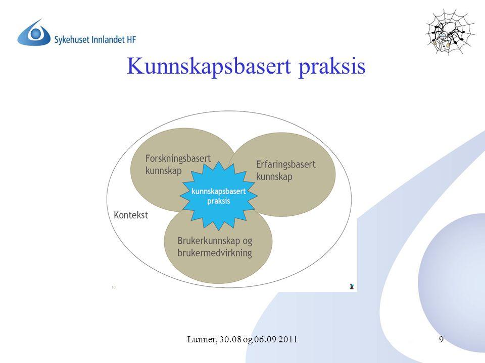 Lunner, 30.08 og 06.09 20119 Kunnskapsbasert praksis